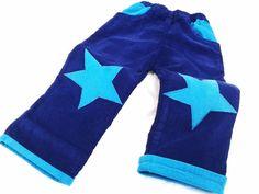 Sternhose    Hose Sterne    in blau/türkis      ein muß für jeden SternehosenFAN!    Einzelstück & Unikat in dieser Farbe ♥ genäht aus robusten Fei...