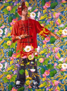 Portrait of a young black man in style of a Venetian Ambassador artist: Kehinde Wiley African American Artist, American Artists, Artists Who Paint Flowers, Seattle Art Museum, Kehinde Wiley, Ap Studio Art, Portrait Art, Portraits, Black Artists