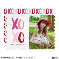 """XOXO"" Valentines Day Photo Card"