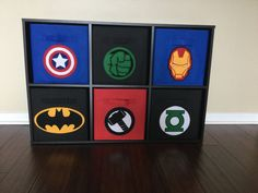 Superhero Storage Bin Thor Kids Storage by SewFreakinAwesome Kids Storage Bins, Toy Bins, Cube Storage, The Barnyard, Barnyard Animals, Fabric Drawers, Fabric Bins, Boy Decor, Kids Decor