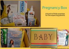 Pregnancy gift basket #pregnancy #gift #idea