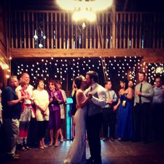 First dance for our beautiful D'PLAZZO bride Elizabeth with her groom Alex. Original Rosebrook barn, great wedding. Love working with brides. D'Plazzo on Facebook. www.dplazzo.com