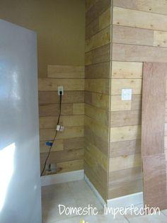 DIY plank wall progress