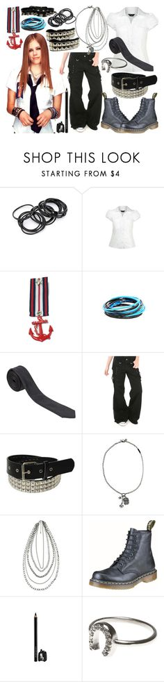 """""""Avril Lavigne 7: Look-A-Like"""" by vintagevampire19 ❤ liked on Polyvore featuring Dorothy Perkins, Peckham Rye, Forever 21, Dr. Martens, Yves Saint Laurent and American Eagle Outfitters"""