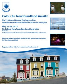 Colourful Newfoundland Awaits! Medical Radiation Technologist, Newfoundland And Labrador, Keynote Speakers, General Conference, Public Health