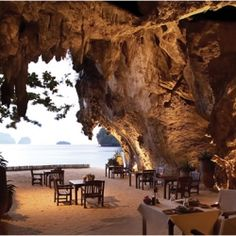 Spectacular beach bar in Reyavadee Resort in Thailand. If there is a place better suited for my dining experience, I am not aware of it.