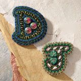 Beaded embroidery - 5 free beaded patterns from Beading Daily