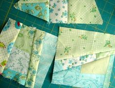 Mile a minute tutorial | Patchwork Posse - An idea for using up small and odd shaped scraps.