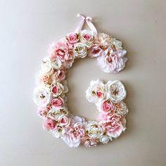 Flower Letters Large Floral Letter wedding Wedding decor #weddingflowers