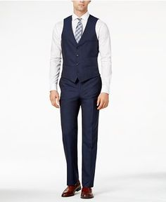Bar III Midnight Blue Slim-Fit Suit Separates - Bar III - Men ...
