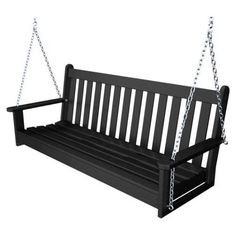 POLYWOOD� 5-ft. Recycled Plastic Vineyard Porch Swing