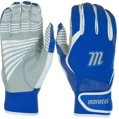 Marucci Youth Venture Batting Gloves, Blue