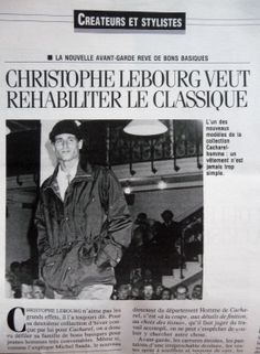 CACHAREL HOMME 1986 BY CHRISTOPHE LEBOURG