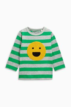 Buy Green Appliqué Long Sleeve T-Shirt (3mths-6yrs) from the Next UK online shop