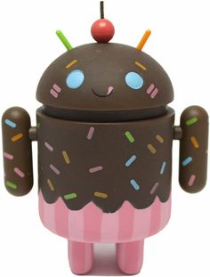 'Chocolate Cupcake Android (chase)' by Gary Ham - http://trampt.com/10271 from Android Series 2 release. #android
