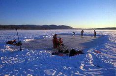 Ice skating on Maridalsvannet - Oslo.