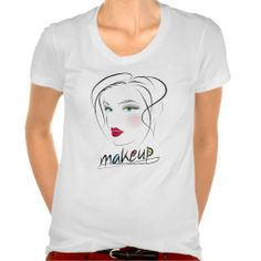 Makeup T-shirt. Perfect gift for the makeup artist or hair stylist in your life.