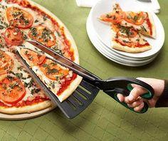 Tijeras para cortar pizza. Era hora de que inventaran esto.