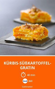 Kürbis-Süßkartoffel-Gratin - smarter - Kalorien: 360 kcal - Zeit: 40 Min.   eatsmarter.de