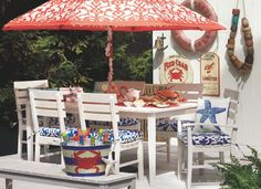Outdoor Living with Cost Plus World Market's Timber Cove Rectangular Outdoor Dining Collection.