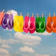 Color Somewhere Over the Rainbow!!!  Flats Summer Fun