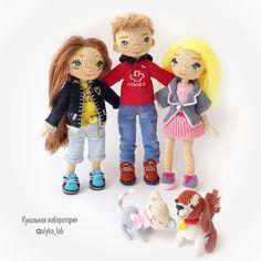 Сразу три куклы ❤️ Роман, Натали, Танюшка ❤️❤️❤️ И их питомцы  Рост девочек 18 см , мальчик 21см Животные около 4- 5  Как вам такая троица друзей  Ваша #olyaka_lab  #кукольнаялабораторияоля_ка #любимыекуклы