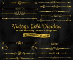 Clip Art Dividers: Free PS Brushes and PNG Images fro Vintage Designs