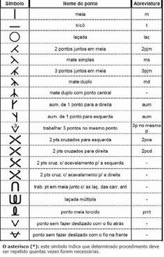 simbolos tricô