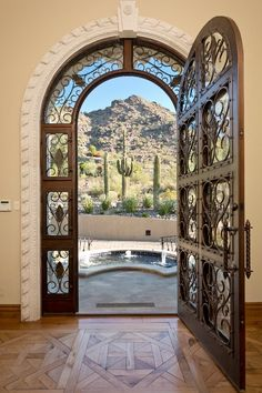 Trendy Ideas For Front Door Ideas Entrance House Wrought Iron Spanish Style Homes, Spanish House, Spanish Colonial, Spanish Revival, Cool Doors, Unique Doors, Entry Doors, Entrance, Door Design