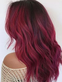 23 Examples of Gorgeous Red Ombré Hair Red Hair red ombre hair Ombre Curly Hair, Best Ombre Hair, Blond Ombre, Brown Ombre Hair, Dyed Hair, Curly Hair Styles, Ombre Bob, Ombre With Red, Wavy Hair