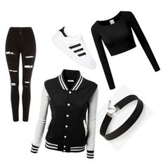 """rawaa"" by alaaalsadon ❤ liked on Polyvore featuring beauty, Express, Topshop and adidas Originals"