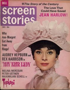 "Audrey Hepburn on the front cover of ""Screen Stories"" magazine, USA, December 1964.  ICG"