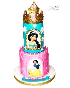 Call or email to order your celebration cake today. Disney Princess Birthday Cakes, Disney Themed Cakes, Cakes Today, Cupcake Wars, Celebration Cakes, Disney Princesses, Custom Cakes, 4th Birthday, Jasmine