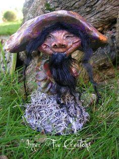 Enchanted Mushroom of Faerie Sculptures by Trisha Leigh Shufelt (c)