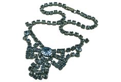 Brilliant Ice Blue Rhinestone Necklace