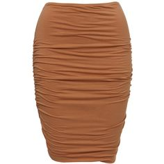 Mindi Skirt ❤ liked on Polyvore featuring skirts and brown skirt