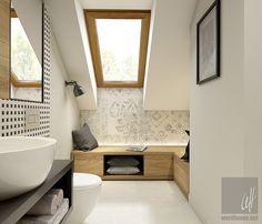 Dom w Milanówku Loft Bathroom, Laundry In Bathroom, Large Bathrooms, Bathroom Design Small, Wc Design, Cabinet Styles, Home And Deco, Clawfoot Bathtub, Bathroom Inspiration