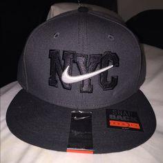 Brand New SnapBack Nike NYC SnapBack. Grey and black. Brand new!!! Nike Accessories Hats