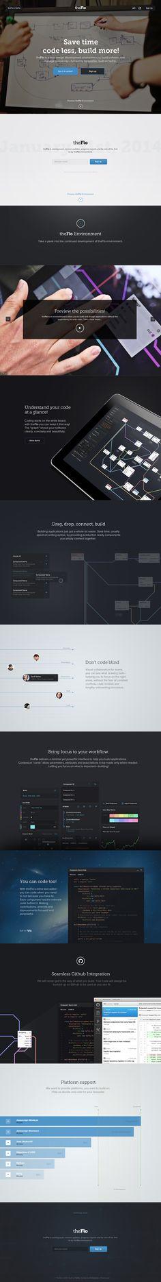 Theflo, great project funded by Kickstarer : http://www.kickstarter.com/projects/noflo/noflo-development-environment