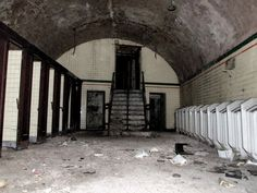 Derelict Places, Abandoned Places, Victorian Urinals, Abandoned Asylums, Wet Rooms, Hospitals, Shelters, Amazing Architecture, Urban Decay