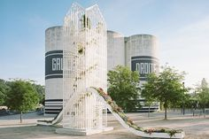Flower pavilion by Laisné Roussel for Lyon Architecture Biennale Lyon  France