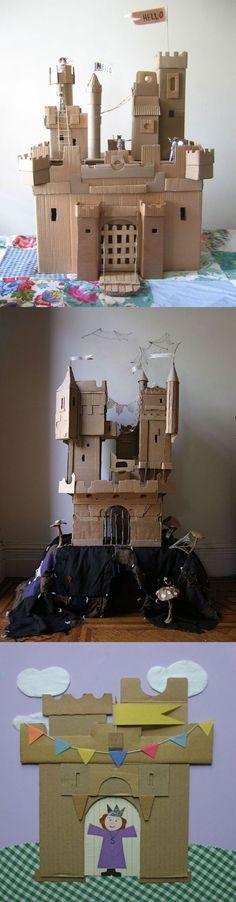 Cardboard-castles