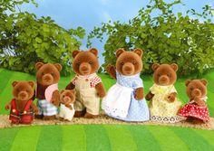 Sylvanian Families Bear Toys - I still have this bear family! The Bear Family, Family Set, 90s Childhood, Childhood Memories, Retro Toys, Vintage Toys, Toys For Girls, Kids Toys, Sylvania Families