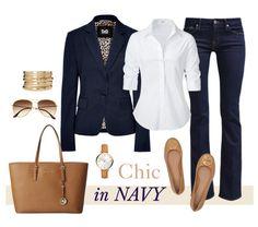 Chic tengerészkék