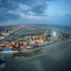 Wildwood Crest resident Matt Ulmer uses his 'drone' to take promotional photos of the Wildwoods, like this one of Morey's Piers.