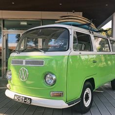 V W 🚐 From tuk-tuks to VW vans, there are no shortage of fun transport options in Portugal! Admittedly, this lime green van doesn't move… Photo Wall Collage, Picture Wall, Aesthetic Photography Nature, Green Vans, Green Pictures, Aesthetic Vintage, Aesthetic Colors, Classy Cars, Green Rooms