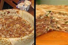 Clătite de pui - cea mai gustoasă și ingenioasă rețetă pentru o cină rapidă! - Bucatarul Crepes, Bulgarian Recipes, Food Truck, Camembert Cheese, Mashed Potatoes, Food To Make, Pancakes, Bacon, Stuffed Mushrooms