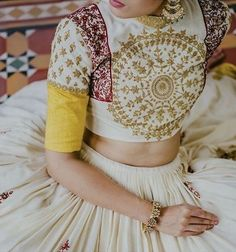 Latest Collection of Lehenga Choli Designs in the gallery. Lehenga Designs from India's Top Online Shopping Sites. Choli Blouse Design, Blouse Designs Silk, Choli Designs, Lehenga Designs, Indian Wedding Outfits, Indian Outfits, Wedding Dresses, Wedding Attire, Wedding Tips