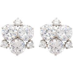 Henri Bendel Black Tie Gala Cluster Earring (7.190 RUB) ❤ liked on Polyvore featuring jewelry, earrings, crystal, henri bendel earrings, cluster jewelry, henri bendel jewelry, earring jewelry and cluster earrings