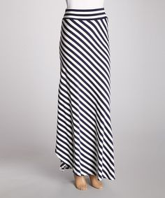 Take a look at this Navy Nautical Maxi Skirt by Hodges Collection on #zulily today!